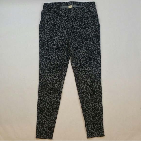 a0213a086aef5 Faded Glory Pants | Black Leopard Full Length Knit Jegging | Poshmark